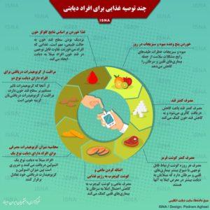 چند توصیه غذایی برای افراد دیابتی