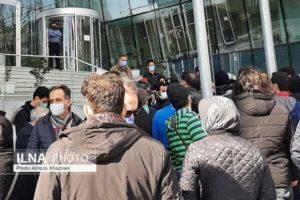 تجمع دوباره سهامداران مقابل ساختمان بورس تهران/ تصاویر