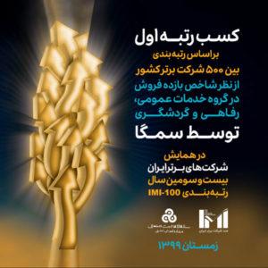 سمگا؛ برترین شرکت ایران در گروه خدمات رفاهی و گردشگری