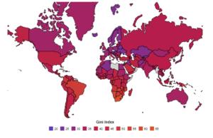 رتبهبندی کشورها بر اساس ضریب جینی